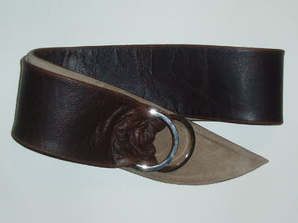 Antique Finish Brown Leather with Beige Suede Lining