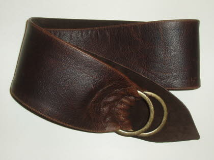 Antique Finish Brown Leather with Choc Brown Suede Lining